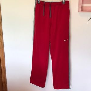 Nike Therma-Fit Sweat Pants, Sz L, Red & Gray